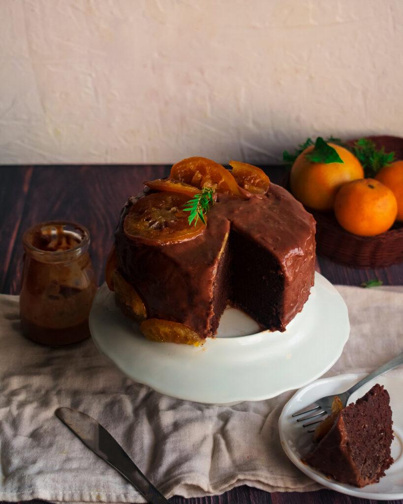 Chocolate Orange cake decoration ideas